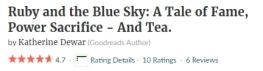 GoodReads rating 4.7 for Ruby and the Blue Sky Jan 2017